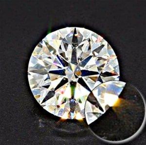 Hearts-and-Arrows-Diamant mit 0,91 ct - 4C Diamant in der Diamantenkunde
