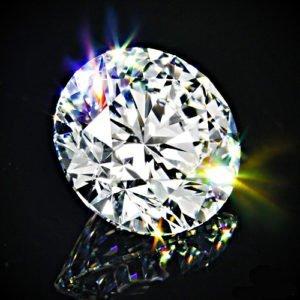 runder Diamant mit Brillantschliff