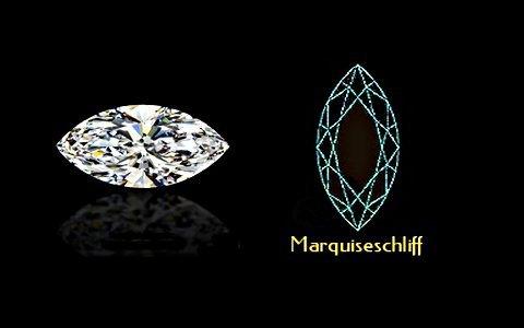 Marquiseschliff mit Schema - klein