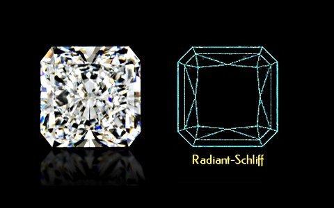 Radiant-Schliff mit Schema - klein