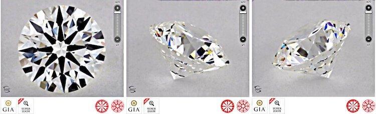 Über die Ansicht auf einen Diamanten über ein 360° Video aus wichtigen Winkeln und einen Diamanten online kaufen
