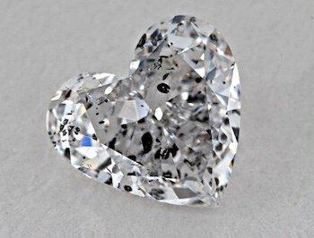 Reinheit von I1- Herzschliff, Farbe G 1,50 Karat Kristalle