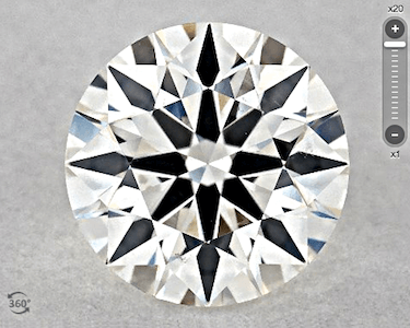 SI2 GIA, Excellent Cut Farbe H 0.90ct Feather+Cristal