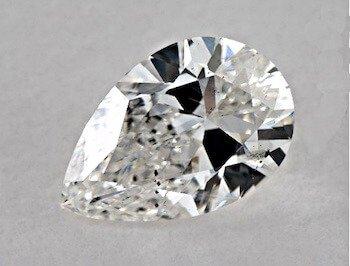 Reinheitsgrad SI2 im Tropfen-Schliff, Farbklasse F, 1.00 Karat Kristalle