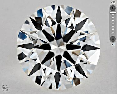 SI2 GIA True Hearts™️ Farbe G 1.20ct Cristal