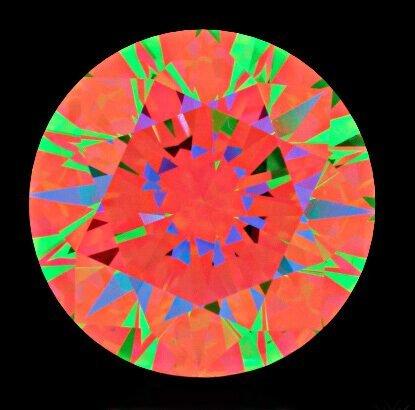 Ungenügende Pfeil-Formationen die weit unter Durchnittlicher Schliff-Qualitäten eines Hearts-and-Arrows sind