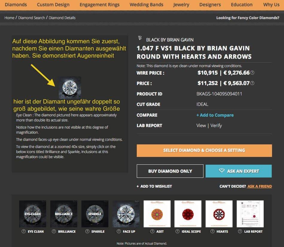Verschiedene Möglichkeiten zur genauen Ansicht und Überprüfung von Hearts and Arrows-Diamanten - Brian Gavin - bester Online-Juwelier weltweit?