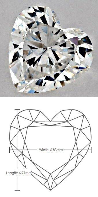 Diamant mit Herzschliff mit Länge-Breite-Verhältnis 0.98 zu 1.00 (20-fache Vergrößerung!)