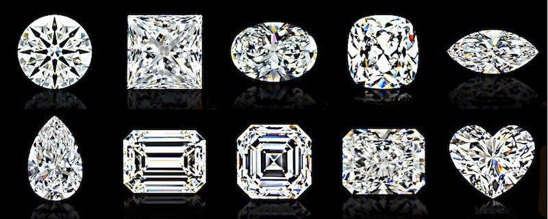 10 populäre Diamant-Formen