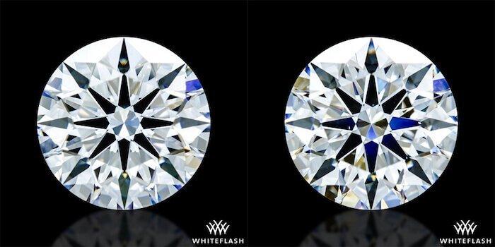 2 scheinbar identische Diamanten im Vergleich - AGS-79657 GIA-5182060571