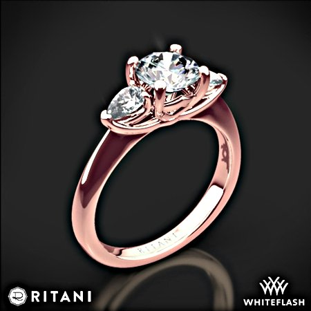 Whiteflash Verlobungsring in Rosé-Gold, Diamant mit Brillantschliff