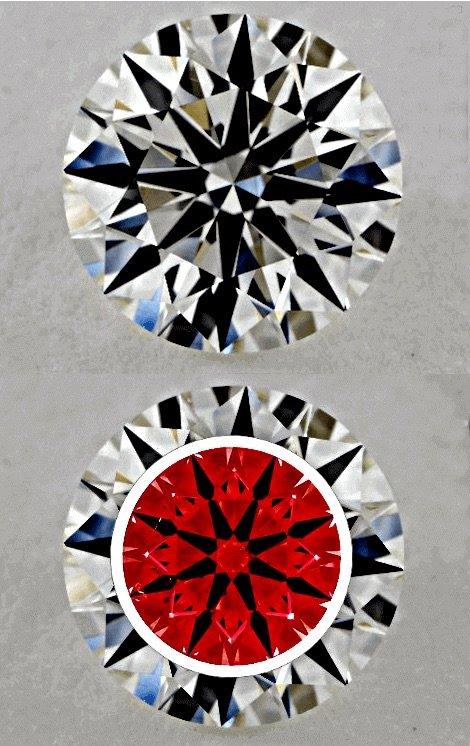 Bilder unterschiedlicher Schliffgrade im Diamanten-Schliff