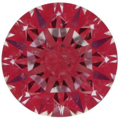 Ideal-Scope-Aufnahme von Proportionen eines ähnlichen Diamanten des Cartier Diamanten. Hier mit 2.02ct James Allen