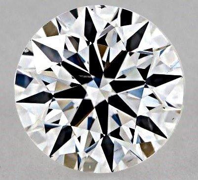 Diamant mit 0.71ct Farbton F, der Reinheit VVS1 Hearts & Arrows mit guten Lichteigenschaften