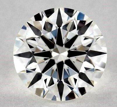 Ideale Proportionen eines rund geschliffener Diamant mit optimalen Lichteigenschaften