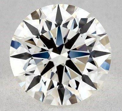 Ideale Proportionen: rund geschliffener Diamant mit wenig optimalen Lichteigenschaften