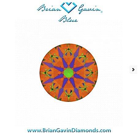 ASET-Scope-Brian Gavin Signature Rund Blue (Medium), 1.123 Karat H VS1, Ideal Cut