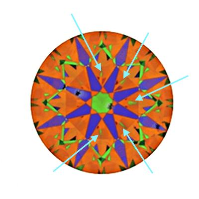 Gewöhnlicher Hearts and Arrows-Diamant mit 0,624 Karat, D, SI1 ohne Optimierung