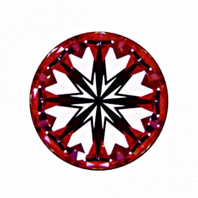 Hearts-Scope Diamant mit 1,131 Karat Farbe F und VS2