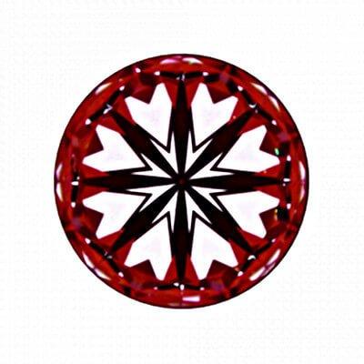Hearts von Diamant mit 1,756 Karat, der Farbe G und der Reinheit VS1