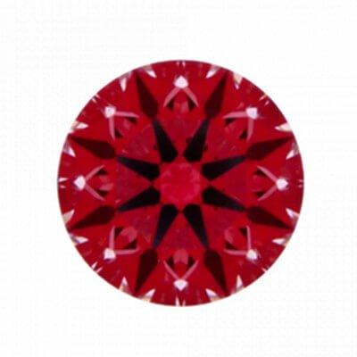 Hearts-Abbildung: Diamant mit 0,267 Karat Farbe E und VS1G und der Reinheit VS1