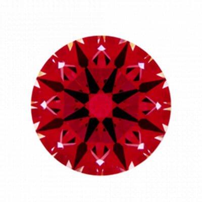 Ideal-Scope Aufnahme Diamant mit 1,131 Karat Farbe F und VS2