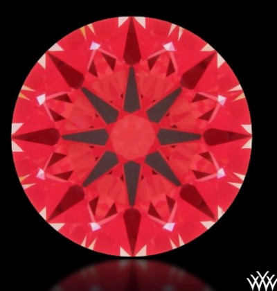 Whiteflash Ideal-Scope des Hearts & Arrows Diamanten 0,705 ct H VS2