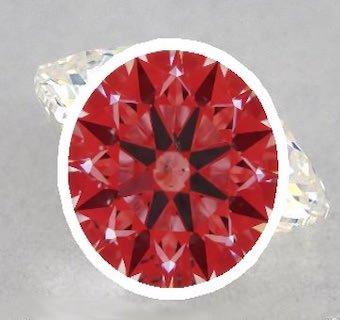 Abbildung eines Diamanten über das Ideal-Scope
