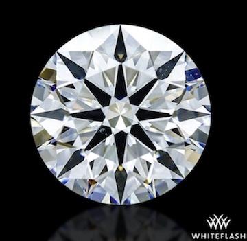 Abbildung eines 1 Karat-Diamanten mit 1,056 ct - A Cut Above Präzisionsschliff