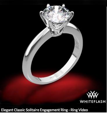 Klassischer Platinum Solitär Verlobungsring für 1 Karat Diamanten