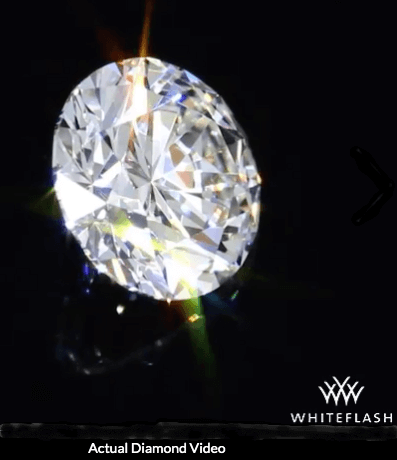 Whiteflash Hearts & Arrows Diamant, 0,602 ct G, VS2 im Video
